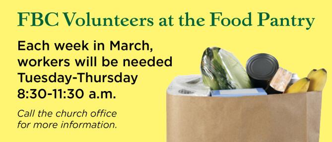FBC Volunteers at the Food Pantry