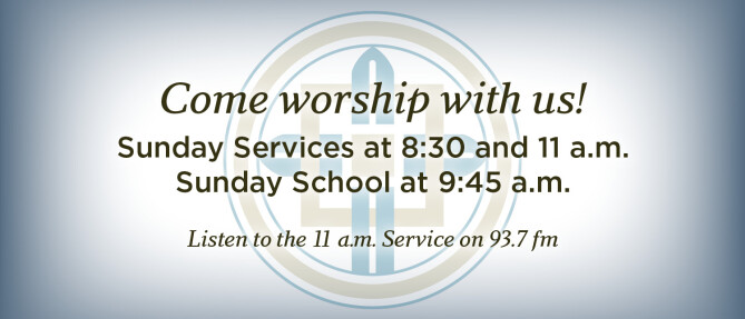 Come worship with us!