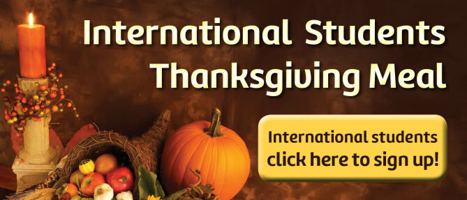 International Students Thanksgiving meal